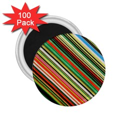 Colorful Stripe Background 2 25  Magnets (100 Pack)