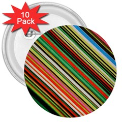 Colorful Stripe Background 3  Buttons (10 Pack)
