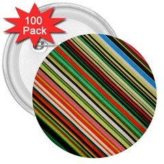 Colorful Stripe Background 3  Buttons (100 pack)