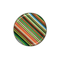 Colorful Stripe Background Hat Clip Ball Marker (4 Pack)
