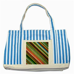 Colorful Stripe Background Striped Blue Tote Bag