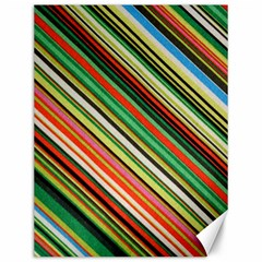 Colorful Stripe Background Canvas 12  X 16