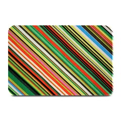 Colorful Stripe Background Plate Mats