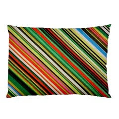 Colorful Stripe Background Pillow Case (Two Sides)