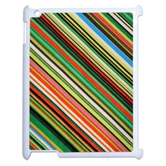 Colorful Stripe Background Apple Ipad 2 Case (white)