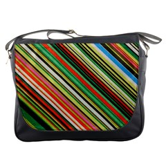 Colorful Stripe Background Messenger Bags