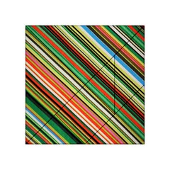 Colorful Stripe Background Acrylic Tangram Puzzle (4  x 4 )