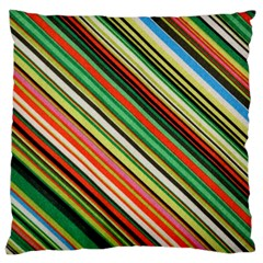 Colorful Stripe Background Large Cushion Case (One Side)
