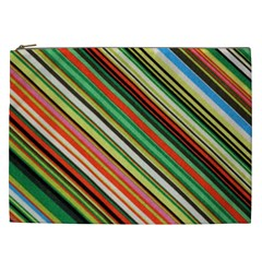 Colorful Stripe Background Cosmetic Bag (xxl)
