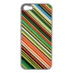 Colorful Stripe Background Apple Iphone 5 Case (silver)