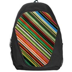 Colorful Stripe Background Backpack Bag