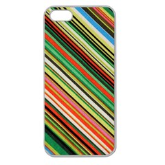 Colorful Stripe Background Apple Seamless iPhone 5 Case (Clear)