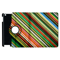 Colorful Stripe Background Apple iPad 2 Flip 360 Case