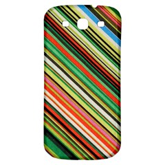 Colorful Stripe Background Samsung Galaxy S3 S III Classic Hardshell Back Case