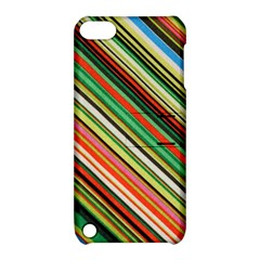 Colorful Stripe Background Apple iPod Touch 5 Hardshell Case with Stand