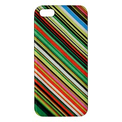 Colorful Stripe Background Apple iPhone 5 Premium Hardshell Case
