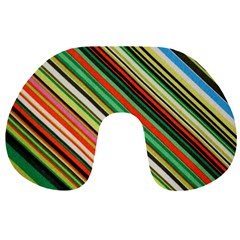 Colorful Stripe Background Travel Neck Pillows
