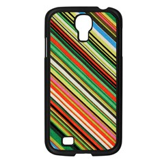 Colorful Stripe Background Samsung Galaxy S4 I9500/ I9505 Case (black)