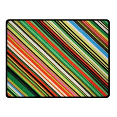 Colorful Stripe Background Double Sided Fleece Blanket (Small)