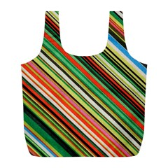 Colorful Stripe Background Full Print Recycle Bags (l)