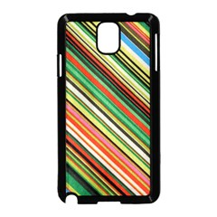 Colorful Stripe Background Samsung Galaxy Note 3 Neo Hardshell Case (Black)