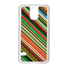 Colorful Stripe Background Samsung Galaxy S5 Case (white)