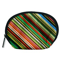 Colorful Stripe Background Accessory Pouches (Medium)