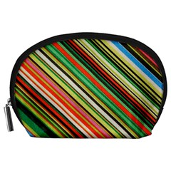 Colorful Stripe Background Accessory Pouches (Large)