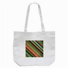 Colorful Stripe Background Tote Bag (White)