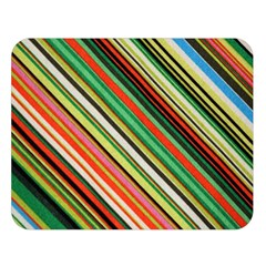 Colorful Stripe Background Double Sided Flano Blanket (Large)