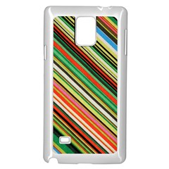 Colorful Stripe Background Samsung Galaxy Note 4 Case (White)