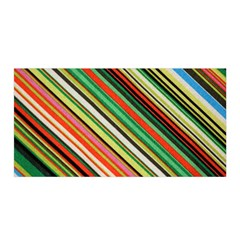 Colorful Stripe Background Satin Wrap