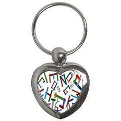 Colorful Letters From Wood Ice Cream Stick Isolated On White Background Key Chains (heart)
