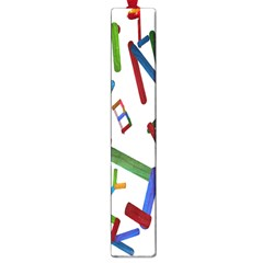 Colorful Letters From Wood Ice Cream Stick Isolated On White Background Large Book Marks