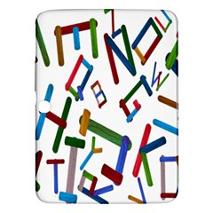 Colorful Letters From Wood Ice Cream Stick Isolated On White Background Samsung Galaxy Tab 3 (10.1 ) P5200 Hardshell Case