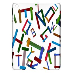 Colorful Letters From Wood Ice Cream Stick Isolated On White Background iPad Air Hardshell Cases