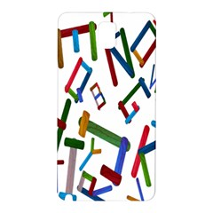 Colorful Letters From Wood Ice Cream Stick Isolated On White Background Samsung Galaxy Note 3 N9005 Hardshell Back Case