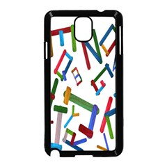 Colorful Letters From Wood Ice Cream Stick Isolated On White Background Samsung Galaxy Note 3 Neo Hardshell Case (Black)