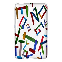 Colorful Letters From Wood Ice Cream Stick Isolated On White Background Samsung Galaxy Tab 4 (8 ) Hardshell Case