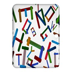 Colorful Letters From Wood Ice Cream Stick Isolated On White Background Samsung Galaxy Tab 4 (10.1 ) Hardshell Case