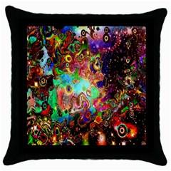 Alien World Digital Computer Graphic Throw Pillow Case (black)
