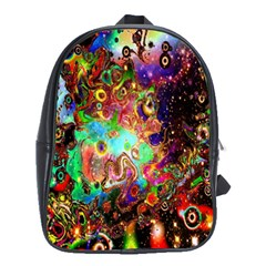 Alien World Digital Computer Graphic School Bags(large)
