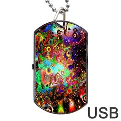 Alien World Digital Computer Graphic Dog Tag USB Flash (Two Sides)