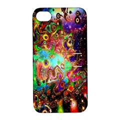 Alien World Digital Computer Graphic Apple Iphone 4/4s Hardshell Case With Stand