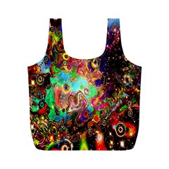 Alien World Digital Computer Graphic Full Print Recycle Bags (M)