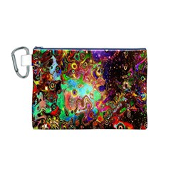 Alien World Digital Computer Graphic Canvas Cosmetic Bag (M)