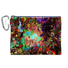 Alien World Digital Computer Graphic Canvas Cosmetic Bag (XL)