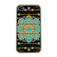 Gold Silver And Bloom Mandala Apple Iphone 4 Case (clear)
