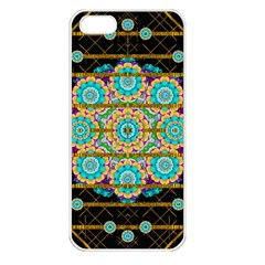 Gold Silver And Bloom Mandala Apple Iphone 5 Seamless Case (white)