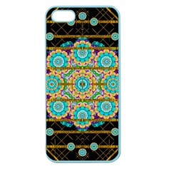 Gold Silver And Bloom Mandala Apple Seamless Iphone 5 Case (color)